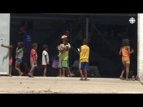 Camp de réfugiés au Brésil