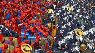 1000 SPIDERMAN VS 1000 VENOM | MASSIVE SUPERHEROES BATTLE streaming