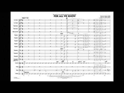 For All We Know arranged by John Clayton