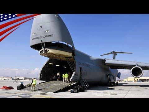 """超大型輸送機 """"C-5Mスーパーギャラクシー"""" の最前線輸送任務"""