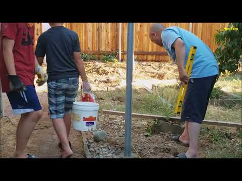 DIY: How-to: Building a Fence - Metal Post and wood fence
