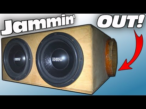 """My Neighbors CAR AUDIO System w/ 2 12"""" Sundown Subwoofers & 4 Twisted Sounds Subs in Ported BURP BOX"""