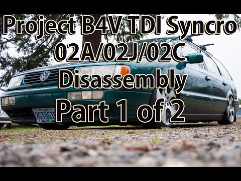 VW 02A 02J 02C Transmission Teardown and Rebuild FIRST TIME part 1 of 2