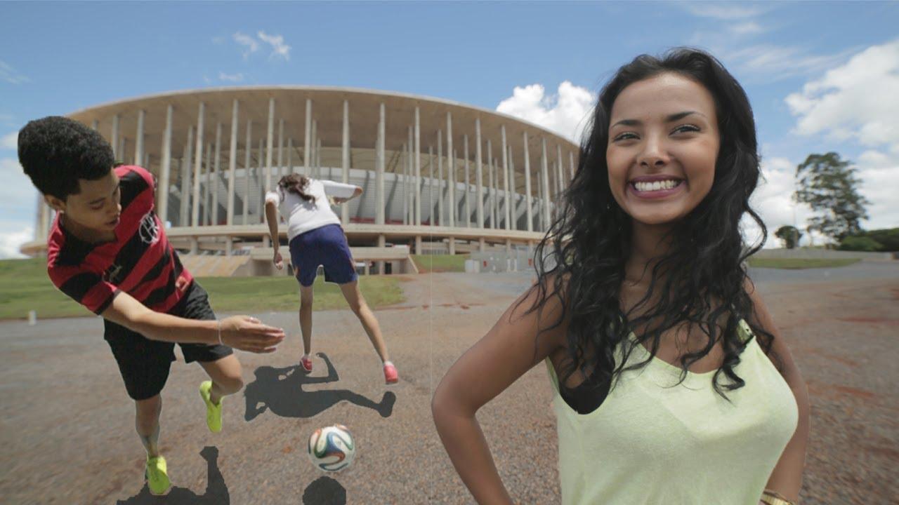 Brazilian Girls Football Skills In Brasilia  Mayas Fifa -8570