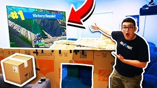 I Won a Game of FORTNITE in WORLD'S BIGGEST BOX FORT!