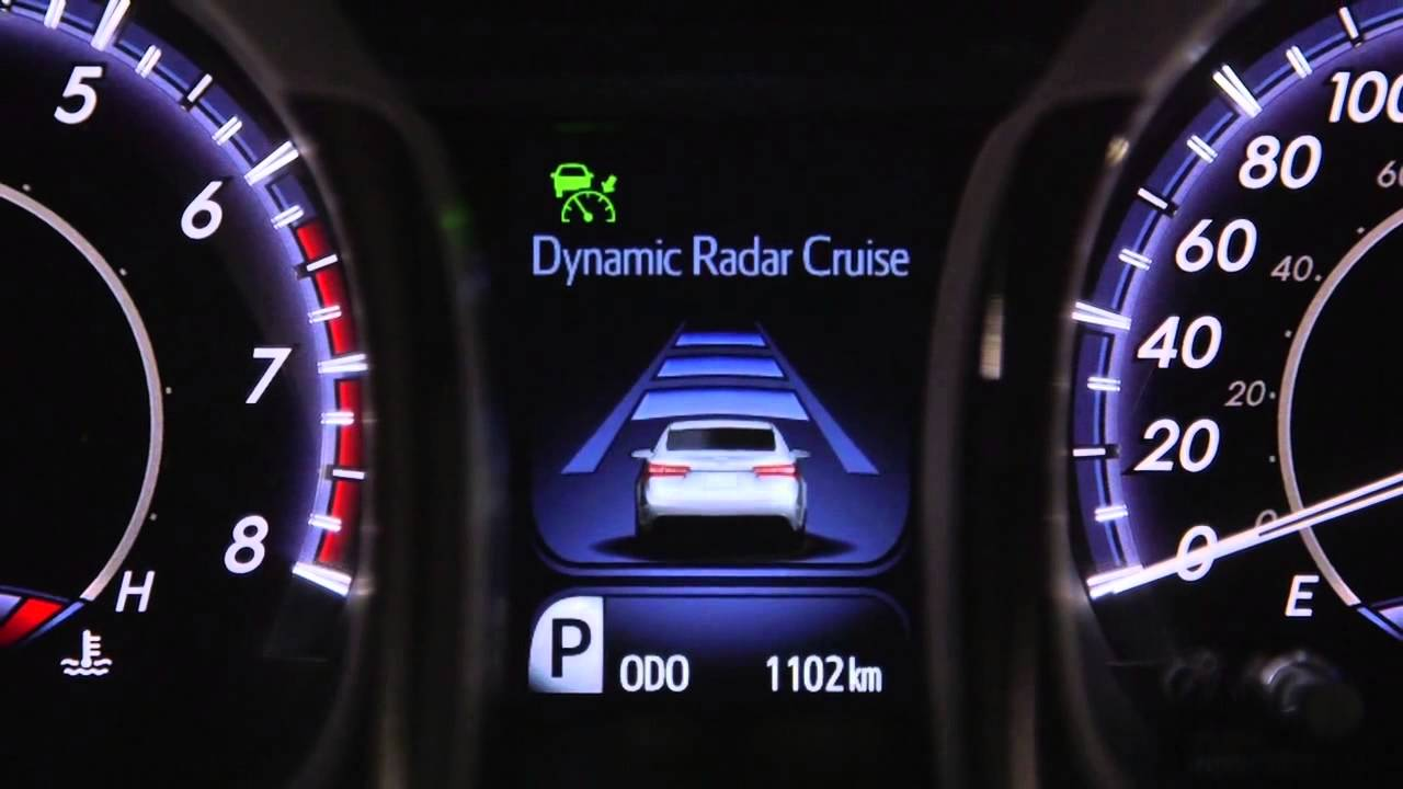 toyota on front dynamic radar cruise control youtube. Black Bedroom Furniture Sets. Home Design Ideas