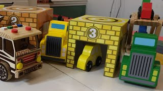 Learn Colors, Numbers Vehicles, with Wooden Toy ,Cars Transporters, Toy Trucks