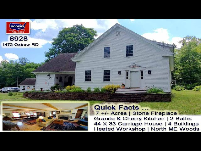 Maine Real Estate Videos | 1472 Oxbow RD Homestead For Sale MOOERS REALTY #8928