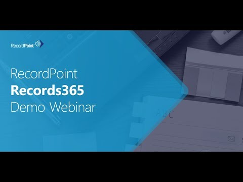 Records365 vNext Demo Webinar Series | RecordPoint