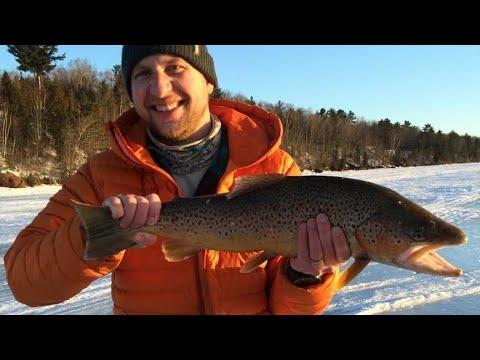 Ice Fishing Lake Superior, Bayfield WI, 2016