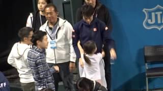 ドリームテニス 錦織圭に「抱っこ!」 20161126 錦織圭 検索動画 27