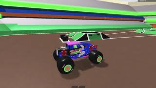 Roblox monster jam Syracuse, NY Freestyle (Broken physics but still somewhat realistic)