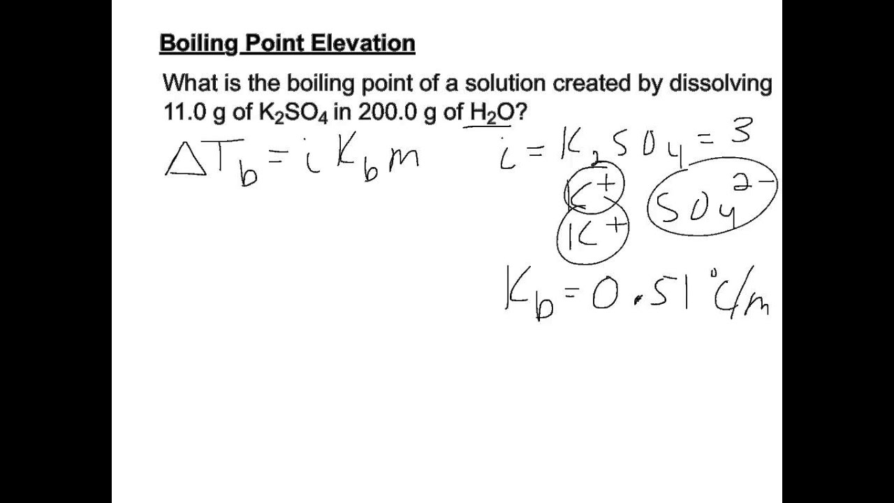 Boiling Point Elevation Example YouTube - Elevation point