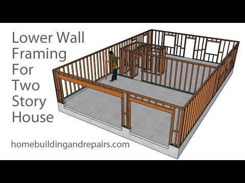 Two Story Open Floor Plan - Lower Wall Framing Tour