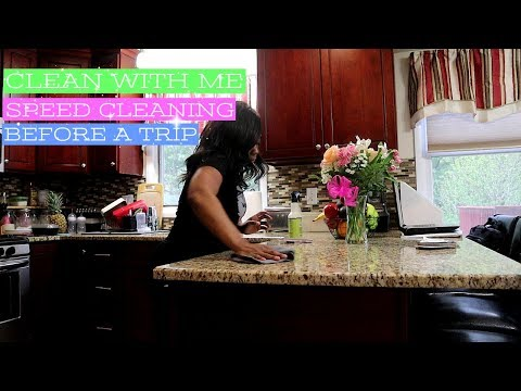 SPEED CLEANING MY HOUSE BEFORE VACATION | CLEANING MOTIVATION 2018 | NIA NICOLE