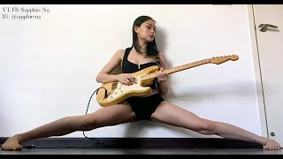 """Deep Purple """"Smoke on the Water"""" LIVE Guitar Solo, Active Middle Splits Hold 