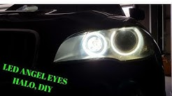 How To: Change BMW X5 E70 Headlight LED Angel Eyes Halo DRL 6000K Upgrade, DIY