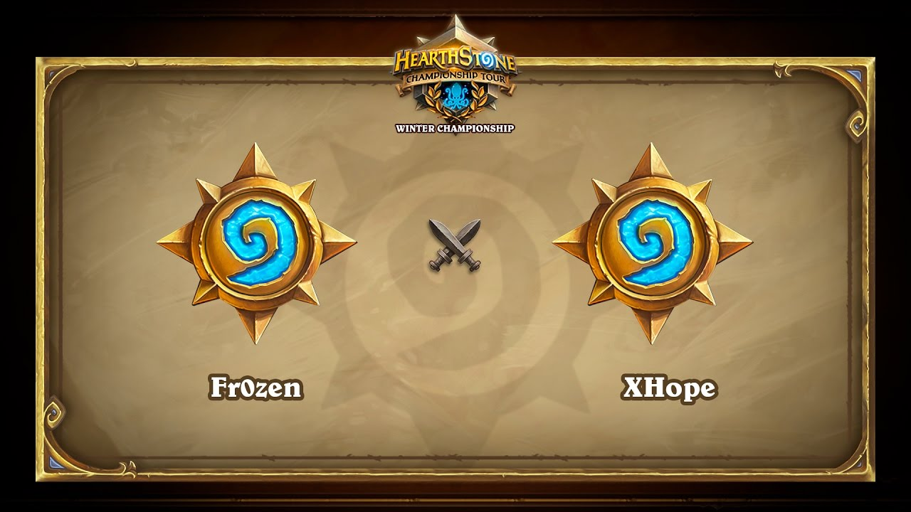 Fr0zen vs XHope, Hearthstone Winter Championship, Group A decider