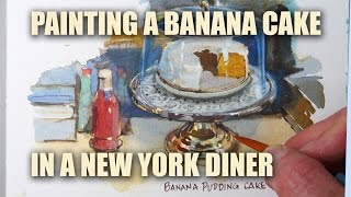 Painting A Banana Cake In A New York Diner With James Gurney