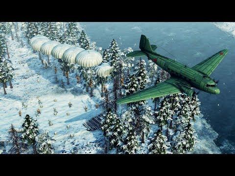 Heavy Paratrooper INVASION of Finland & Defense | Sudden Strike 4: Winter Storm DLC Gameplay