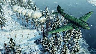 Heavy Paratrooper INVASION of Finland & Defense   Sudden Strike 4: Winter Storm DLC Gameplay
