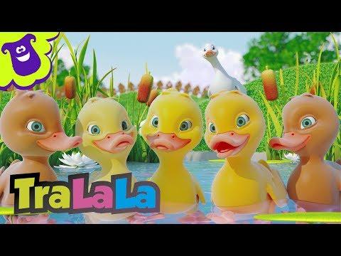 Cinci rățuște (Five Little Ducks în română) | TraLaLa