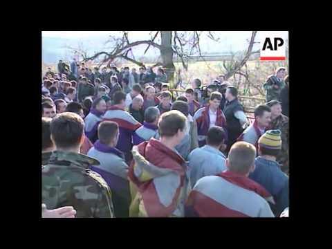 Bosnia-Government & Bosnian Serbs Exchange POWs