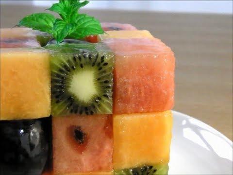 キューブ フルーツ デザート Rubik's Cube Fruit Dessert ナパージュ