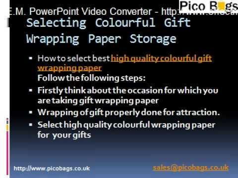Colourful Recycled Gift Wrapping Paper Storage in UK