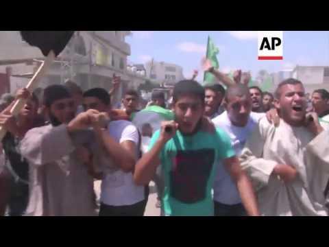 Ramallah rally in support of Gaza, airstrikes, Friday prayers, border