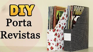 DIY: Como fazer um Porta Revistas Personalizado (Organizador / Reciclagem)  #diyhome