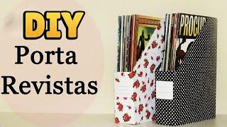 Diy: Porta Revistas Personalizado (organizador Livros, Cadernos, Documentos... / Back To School)
