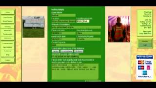 event security quotation and booking process screen shots