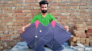Two Kite Flying With One Thread For Kite || Fly Kites || Fly Kites || Patang Flies Flies Kite