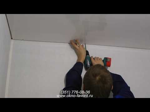 Отделка потолка на балконе или лоджии