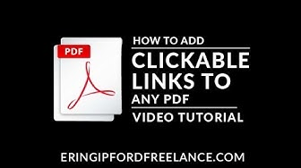 How To Make a Clickable PDF