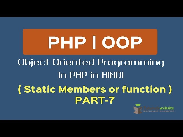 OOPS Concept in PHP in HINDI | Static Members | Static Function or Method | Part-7