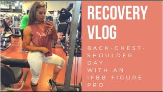 How I Recover from Training Like a Bodybuilder  | FIGURE PRO BACK WORKOUT