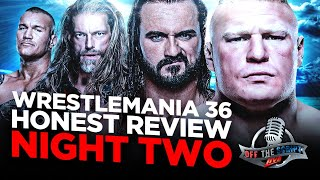 WWE Wrestlemania 36 Night Two Full Show Review & Results | BROCK LESNAR VS DREW MCINTYRE