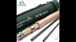 maxcatch fly rod sk carbon 7 6ft 3 wt fast action with cordura tube super light fly fishing rod