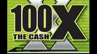 NEW TICKET! $20 100X The Cash Texas Lottery Scratch Off Ticket