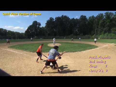 Pikesville Men's Softball League Playoffs -- August 28, 2016 #3 Kings at #2 Natty O's