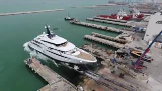 Luxury Superyacht - The launch of CRN M/Y Cloud 9 74m