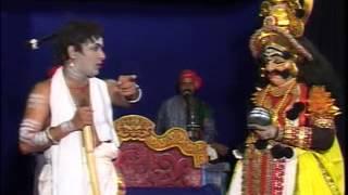 Yakshagana-Bhukailasa-Ramesha bandari hasya Ravana Gode,Bhagavatige Dareshwar