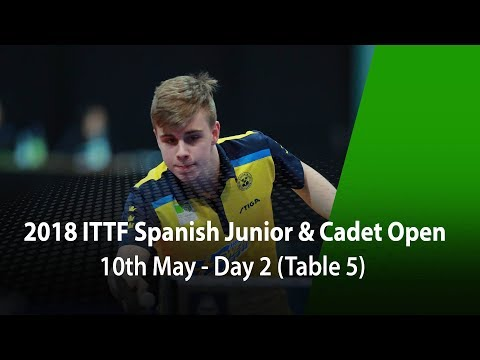 2018 Spanish Junior & Cadet Open - Day 2 (Table 5)