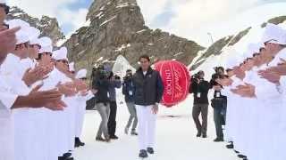 Federer zeigt Vonn seine Schoggi-Seite