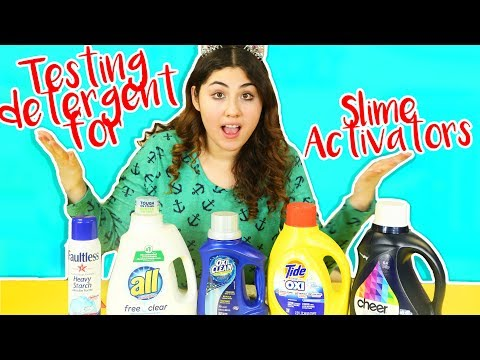 TESTING DIFFERENT DETERGENT FOR SLIME ACTIVATOR part 2 | Slimeatory #224