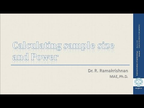 Calculating sample size and power