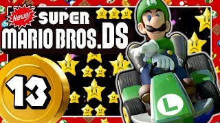 NEWER SUPER MARIO BROS. DS Part 13: Mario Kart Rainbow Road & Super Mario Land 2 Space-Zone Vibes