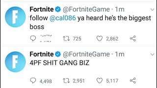 Epic Games/ Fortnite Twitter Page Hacked LoL (LIRE DESCRIPTION)